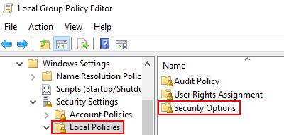 Security Options 1 Min