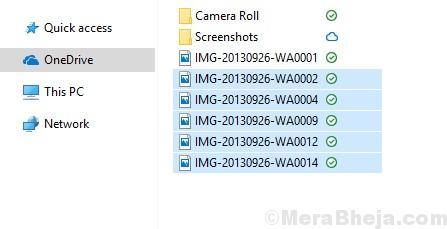 Select Files Onedrive Folder
