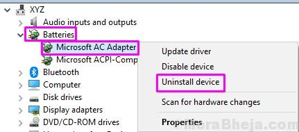 Uninstall Microsoft Ac Adapter