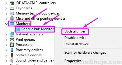 Fix Generic PnP Monitor problem on Windows 10 (Solved)