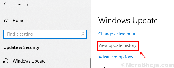 View Update History Windows 10