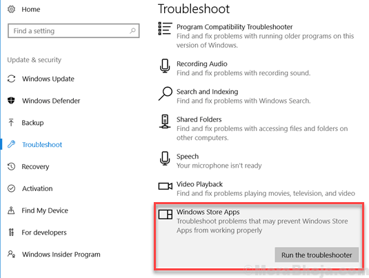 Windows Store App Troubleshoot