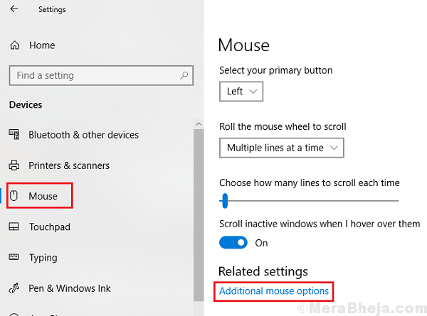 Additional Mouse Settings