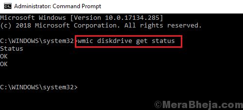Disk Drive Status