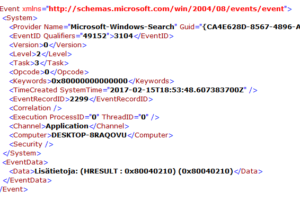 Enumerating User Sessions To Generate Filter Pools Failed