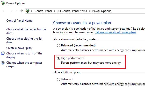 High Performance Power Plan