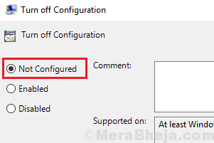 Not Configured