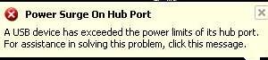 Power Surge On Usb Port