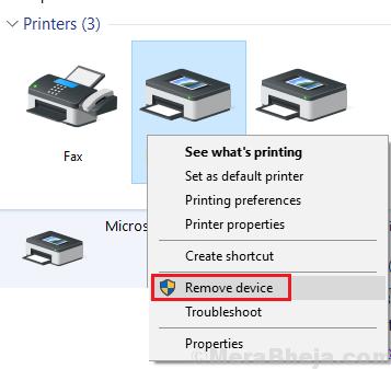 Remove Printer