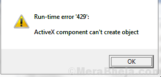 Runtime Error 429 On Windows 10