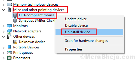 Uninstall Hid Compliant Mouse