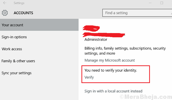 Verify Your Microsoft Account