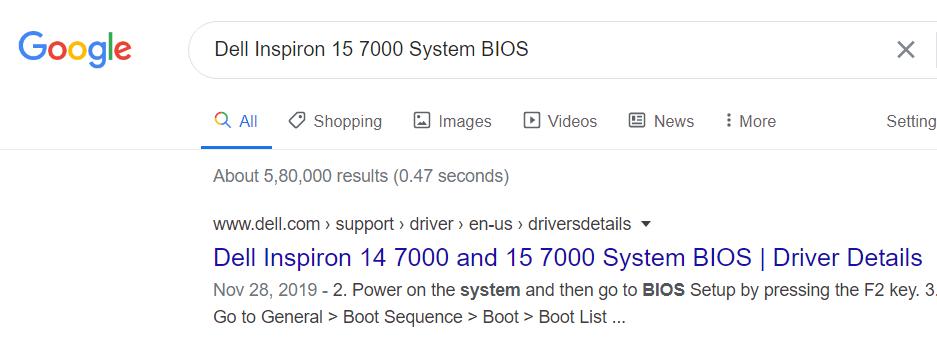 Bios Google