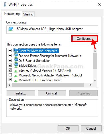 Configure Wifi Props