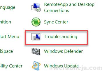 Control Panel Troubleshooting