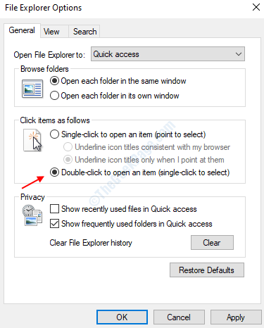 Double Click To Open Folder