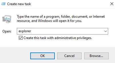 Explorer Admin Task