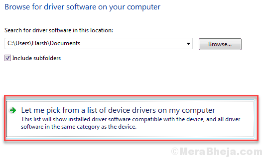 Pick Driver From Computer