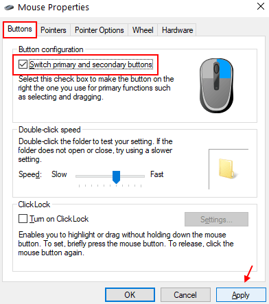 Switch Primary Mouse Click Min