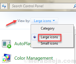 View By Large Icons Control Panel