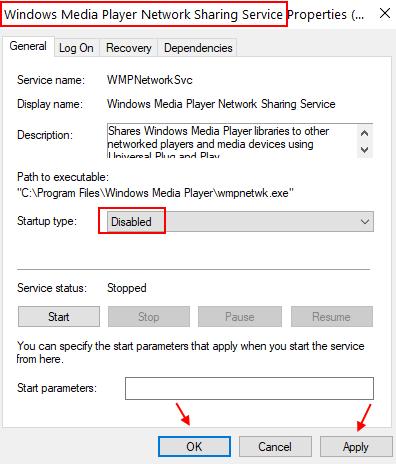 Windows Media Network Service Min