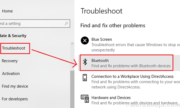 Bluetooth Troubleshooter