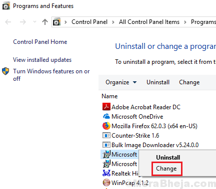 Change Microsoft Min