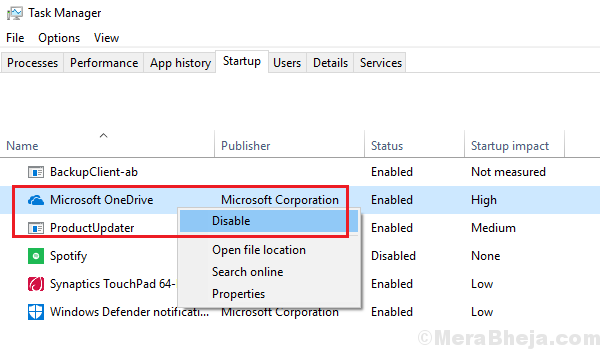Disable Onedrive At Startup