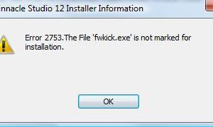 Error 2753 The File Is Not Marked For Installation