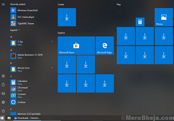 Fix Blank Tiles Or Missing Icons From Start Menu After Update 1809
