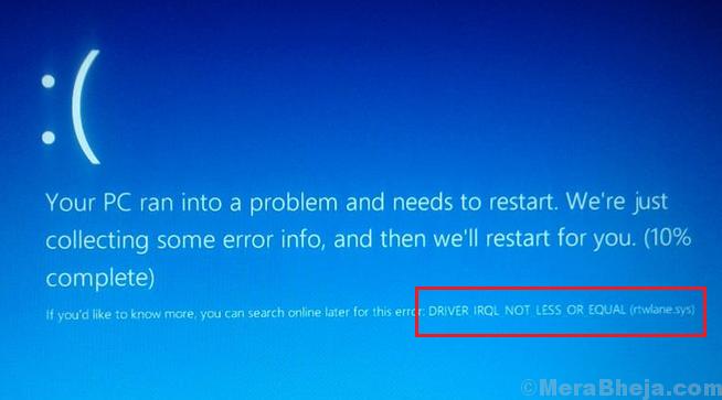 Fix Rtwlane.sys Blue Screen Error On Windows 10