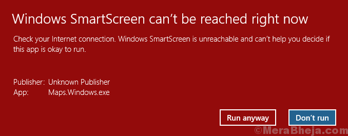 Fix The 'windows Smartscreen Can't Be Reached' Error
