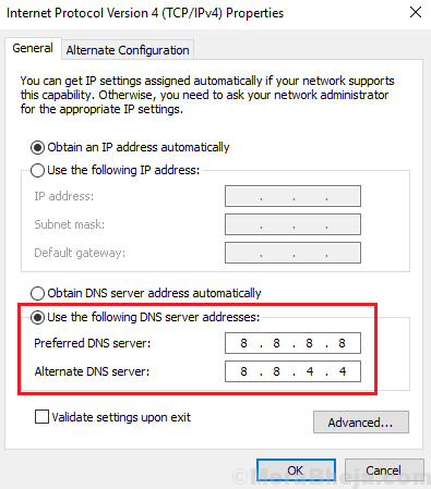 Google Dns Address