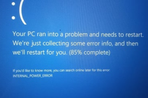 Internal Power Error Blue Screen On Windows 10