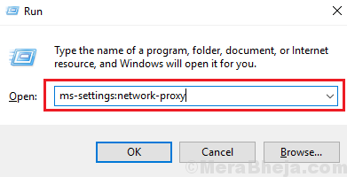 Network Proxy Run Command