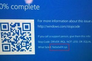 Netwtw04.sys Failed