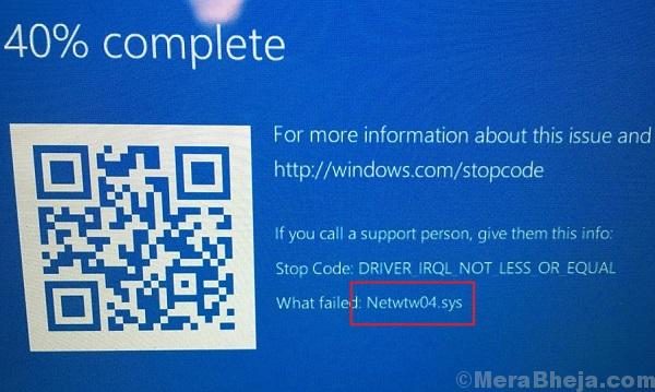 Netwtw04.sys Failed