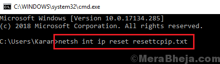 Reset Tcp Ip