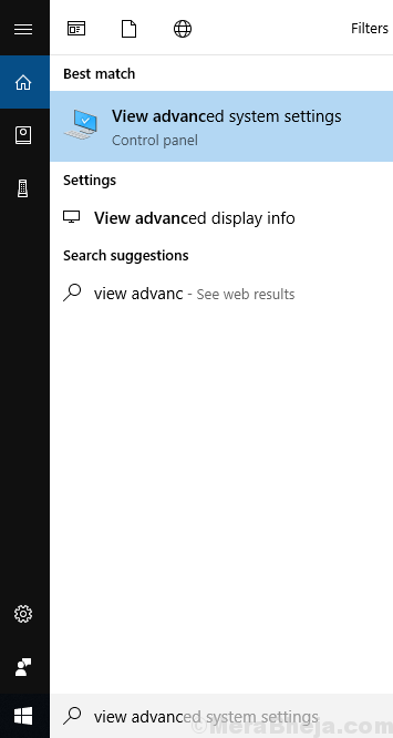 Search View Advanced System Settings In Windows Search