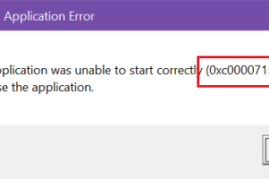 The Application Was Unable To Start Correctly (0xc0000715). Click Ok To Close The Application.