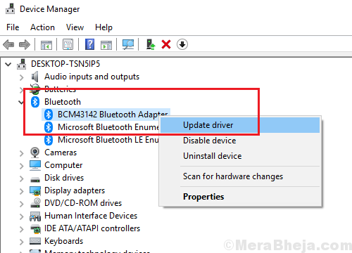 Update Bluetooth Drivers