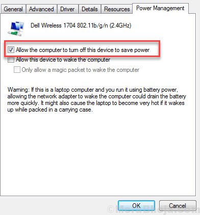 Allow Computer Turn Off Wifi