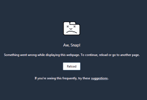 Aw Snap Chrome