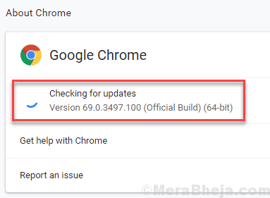 Check For Updates Chrome