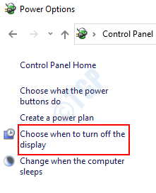 Choose When Turn Off Display