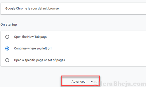 Chrome Settings Advanced