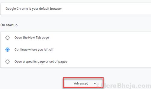 Chrome Settings Advanced