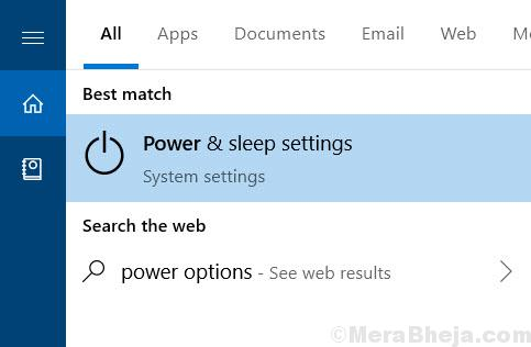 Power Sleep Settings