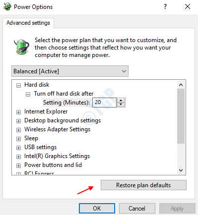 Restore Pan Defaults