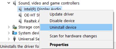 Uninstall Sound Driver Min